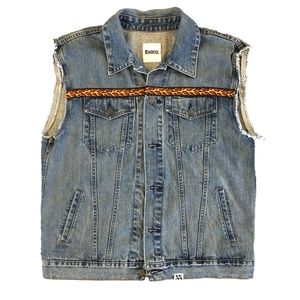 Flame Denim Vest
